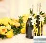 Оформление свадебного стола свежими лимонами