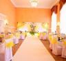 Оформление банкетного зала на лимонной свадьбе