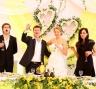 Молодожены и свидетели - лимонная свадьба