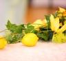 Украшение свадебных столов в лимонном стиле