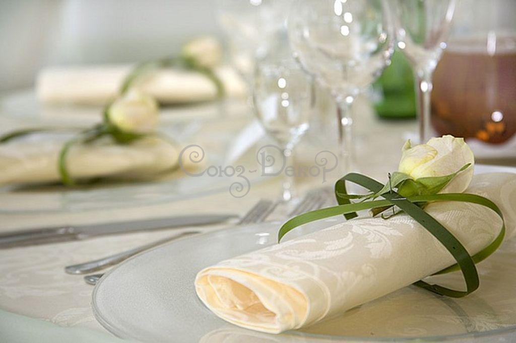 Оформление салфеток на свадьбу 125