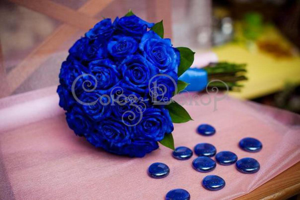 Букеты из синих роз фото