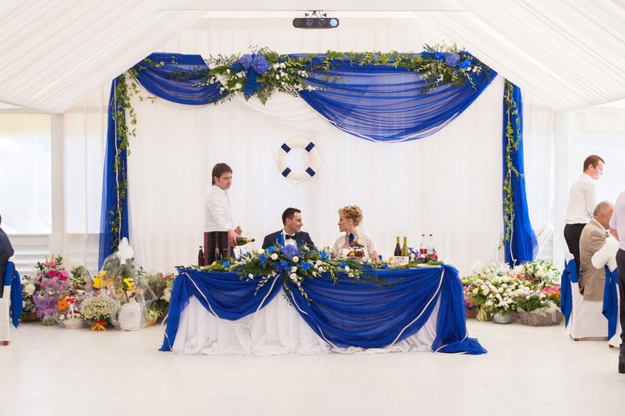 бело синяя свадьба видео