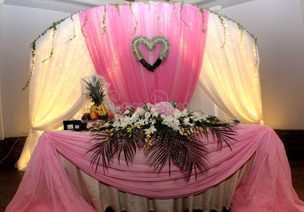 Украшение живыми цветами свадьбы