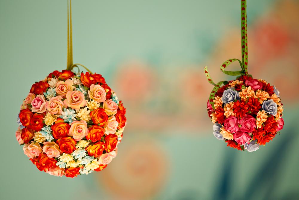 Шарики из цветов