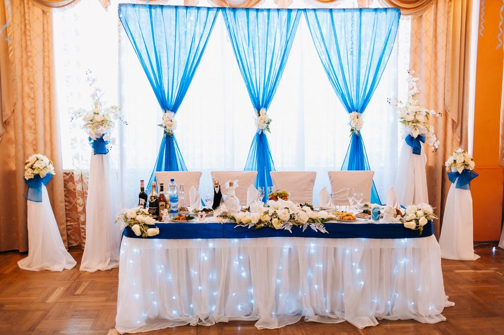 Оформление свадьбы своими руками тканью