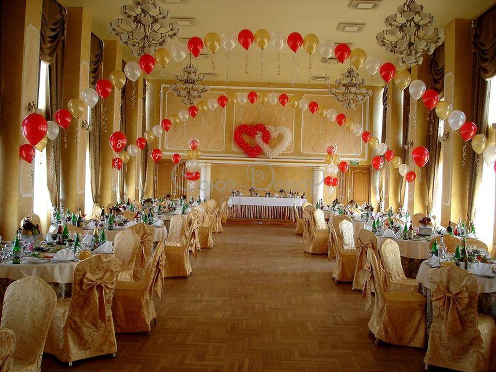Украшение шарами свадебного зала своими руками