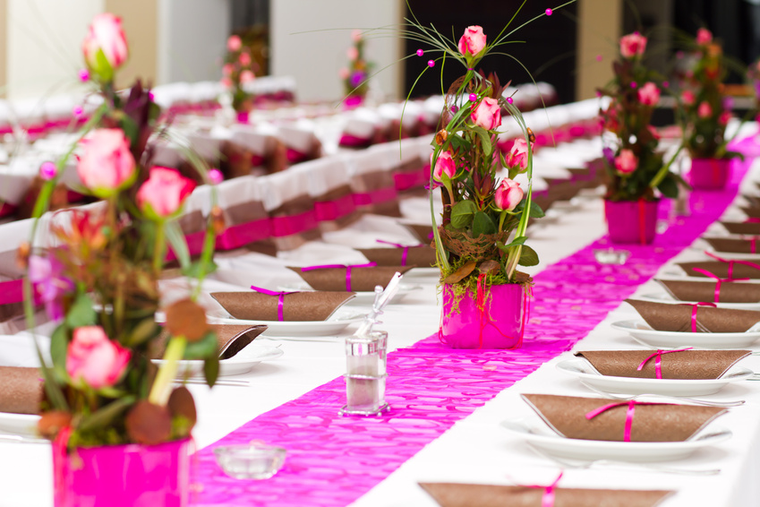 Свадебные композиции из живых цветов