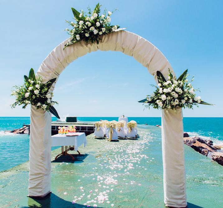 Как украсить свадебную арку своими руками - Souz-decor