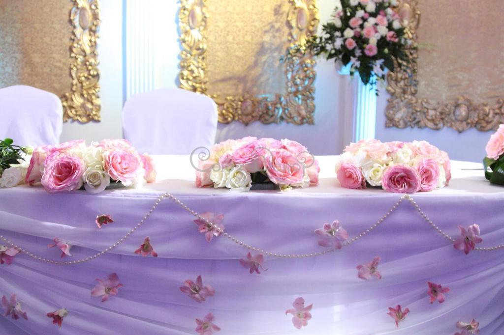 Украшение свадебного стола из органзы своими руками