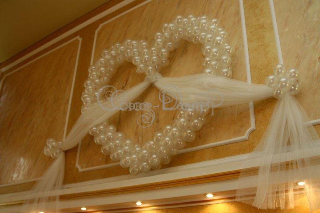 Украшение зала из шаров на свадьбу своими руками
