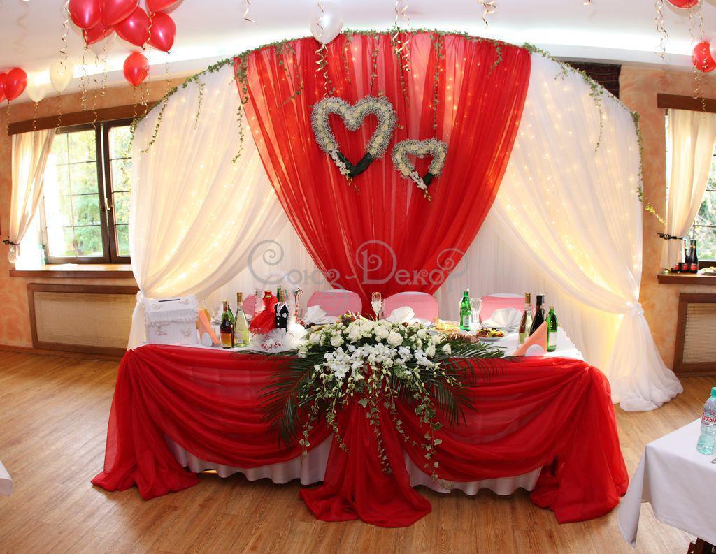 Идеи для украшения свадебного зала цветами, шарами