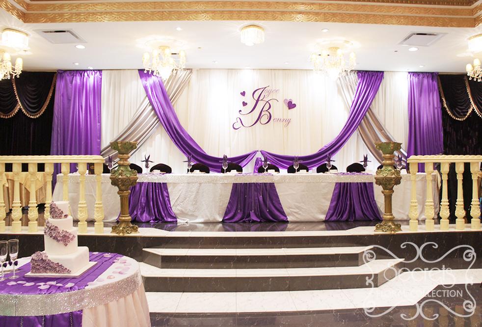 Декорирования свадебного зала тканью
