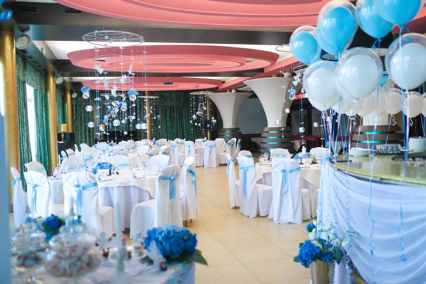 Свадебное оформление в голубом «морском» стиле