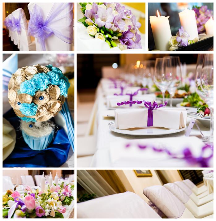 Украшение свадебных столов