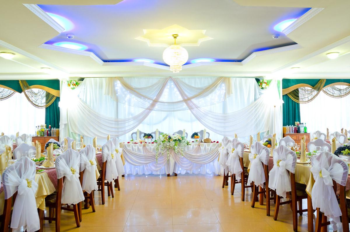 Праздничное украшение зала на юбилей